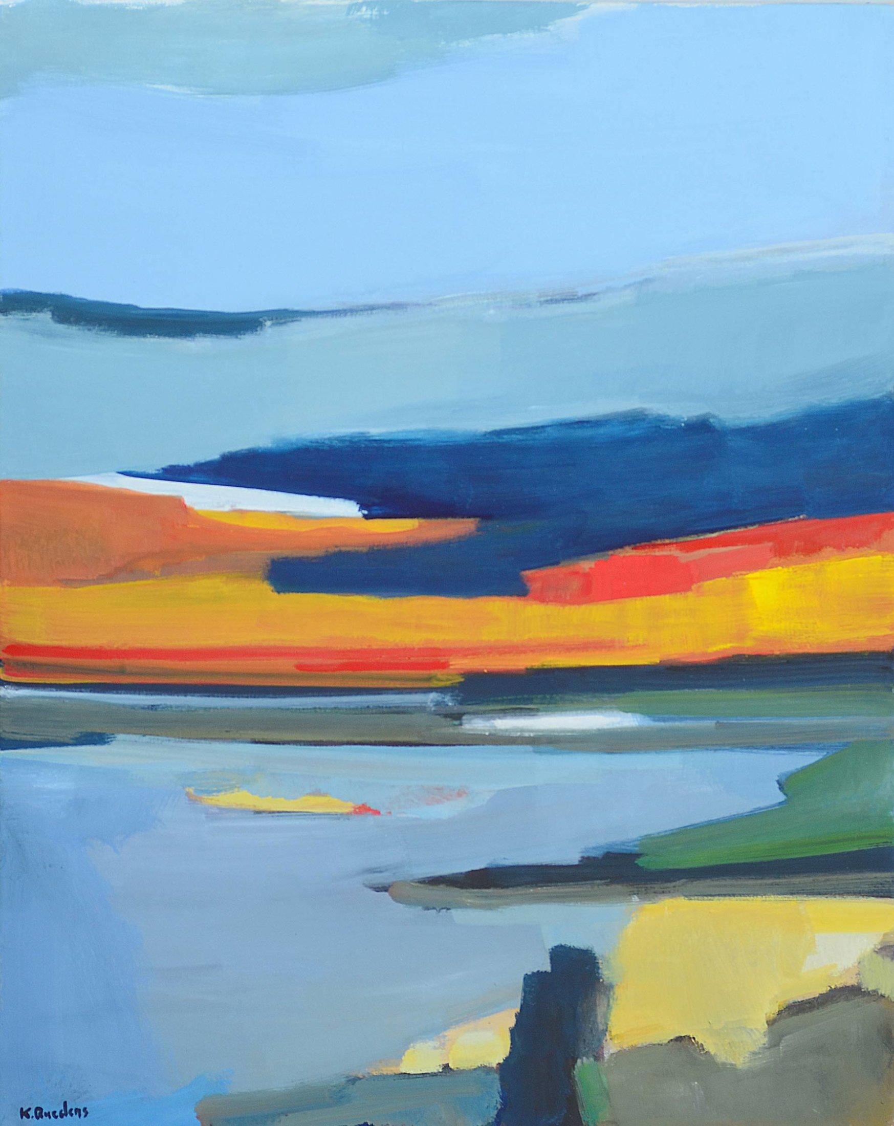 bruket lunskaft (farbige Landschaft)
