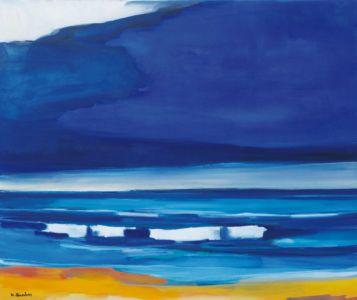 blä mä waagen an strun (Blau mit Wogen und Strand)